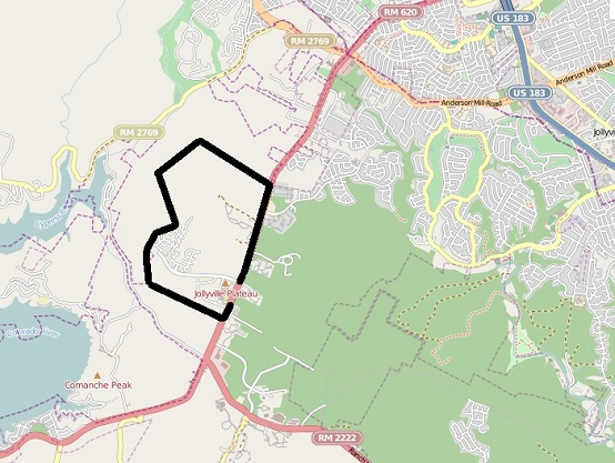 Grandview Hills outline map