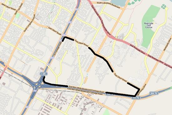 Parker Lane outline map