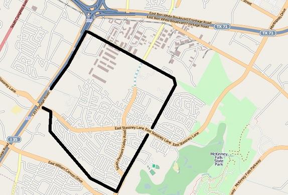 Franklin Park outline map