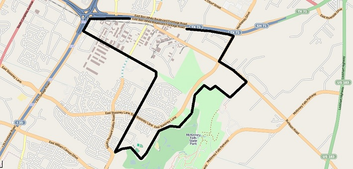 McKinney outline map
