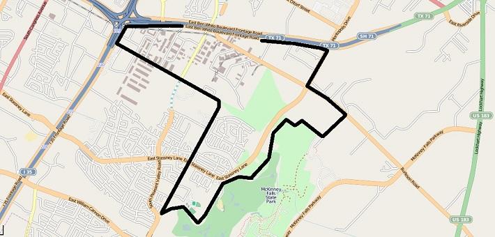 McKinney outline map