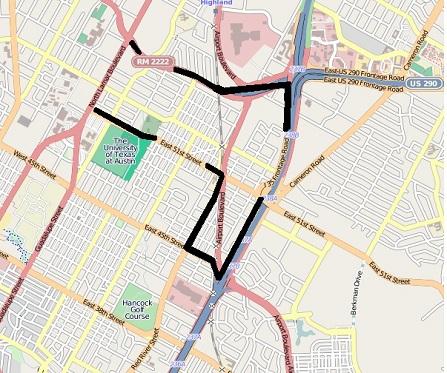 North Loop outline map