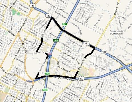 Saint Johns outline map