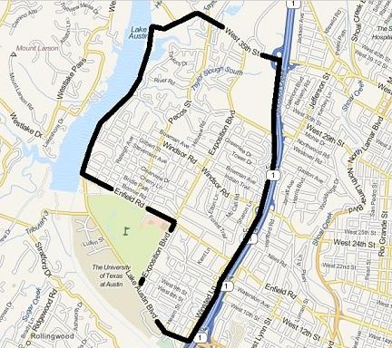 Tarrytown outline map
