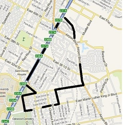 Upper Boggy Creek outline map